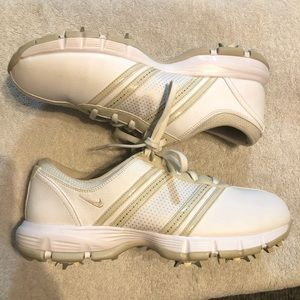 Nike Delight Tac Spike White/Birch Golf Shoes 8.5